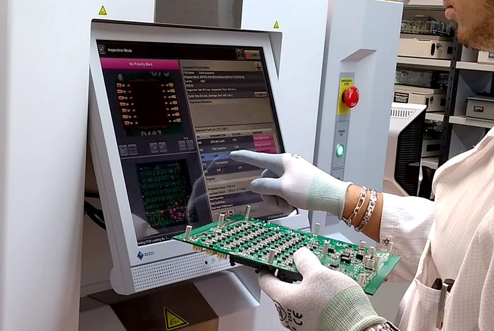 Polycaptil FCE - Électronique — Optoélectronique — Mécatronique- Fabrication de cartes électroniques - AOI 3D