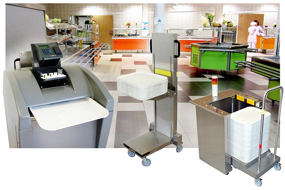Polycaptil FCE - Électronique, optoélectronique, mécatronique - distributeur automatique de plateaux à la cafétéria produit propre polycaptil Fabrication mécanique autour de l'électronique